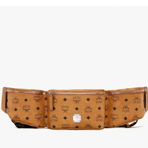 NEW: MCM Cognac Jemison Large Sling Bag